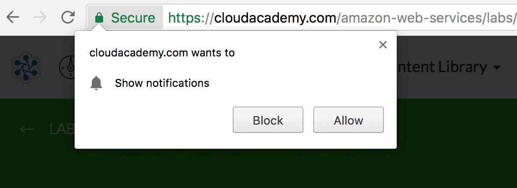 Chrome Notification bar